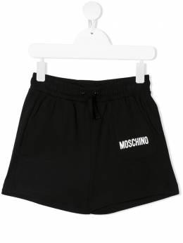 Moschino Kids шорты из джерси с логотипом HUQ00HLBA10