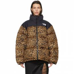 Vetements Brown and Black Leopard Limited Edition Puffer Jacket UE51JA550L