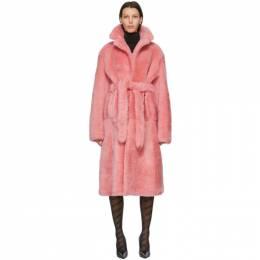 Vetements Pink Shearling Extra Soft Coat UE51CO900P