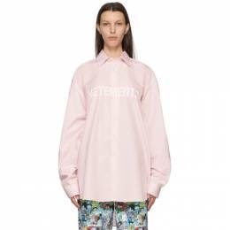 Vetements Pink Front Logo Shirt UE51SH300P