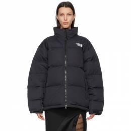 Vetements Black Down Limited Edition Logo Puffer Jacket UE51JA550B