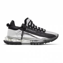 Givenchy Silver Spectre Zip Low Sneakers BH003MH0TS