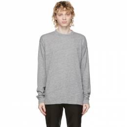 John Elliott Grey Classic University Long Sleeve T-Shirt A189A0923A