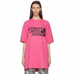 Vetements Pink Limited Edition Big Logo T-Shirt UE51TR810P