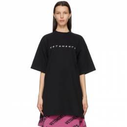 Vetements Black Friendly Logo T-Shirt UE51TR340B
