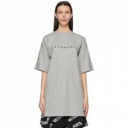 Vetements Grey Friendly Logo T-Shirt UE51TR340G
