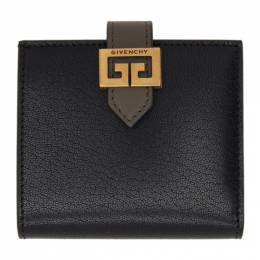 Givenchy Black and Taupe Small GV3 Bifold Wallet BB60EAB056