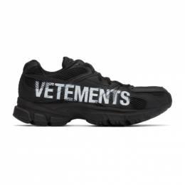 Vetements Black Reebok Edition Artisanal Logo Spike Runner Sneakers UE51SN200B