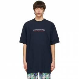Vetements Navy Logo Haute Couture T-Shirt UE51TR470N