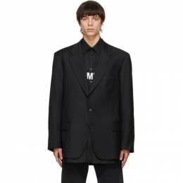 Vetements Black Gothic Logo Tailored Blazer ME51JA600B