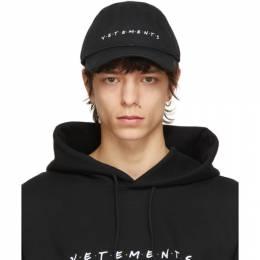 Vetements Black Friendly Logo Cap UE51CA600B