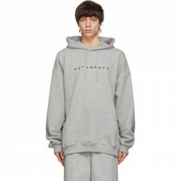 Vetements Grey Friendly Logo Hoodie UE51TR350G