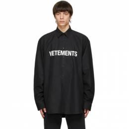 Vetements Black Front Logo Shirt UE51SH300B