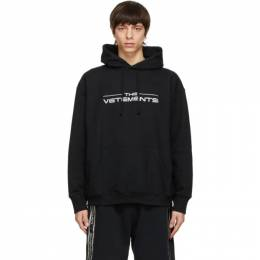 Vetements Black The Logo Hoodie UE51TR420B