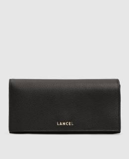 Черный кожаный кошелек Lancel 2300005676889