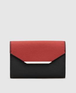 Черный кожаный кошелек Lancel 2300005676858