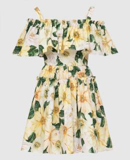 Желтое платье Dolce&Gabbana 2300006586682