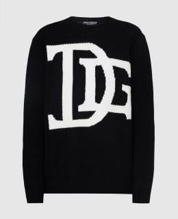 Черный свитер из шерсти Dolce&Gabbana 2300006586835
