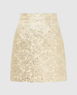 Золотистая юбка Dolce&Gabbana 2300006585906