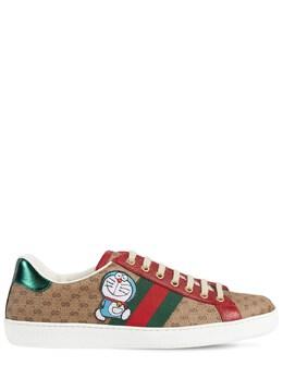 Кожаные Кроссовки Doraemon New Ace Gucci 73IH0M019-OTc2NQ2