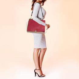 Furla Tri Color Leather Cortina Top Handle Bag 380950