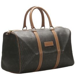 Dior Brown/Beige Honeycomb Leather Travel Bag 374795