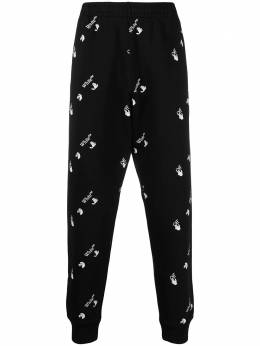 Off-White all-over logo print track pants OMCH033R21FLE0041001