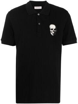 Alexander McQueen рубашка поло с логотипом Skull 650418QQX33