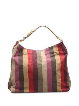 Fendi Pre-Owned сумка на плечо с контрастными полосками 0KFNSH010