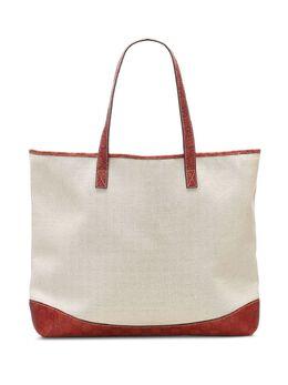Gucci Pre-Owned двухцветная сумка-тоут 0KGUTO042