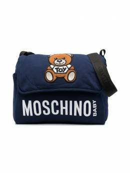 Moschino Kids пеленальная сумка Teddy Bear с логотипом MUX03MLDA00