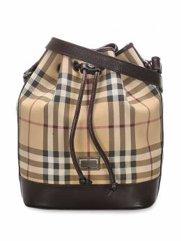 Burberry Pre-Owned сумка-ведро в клетку House Check 0CBUBU001