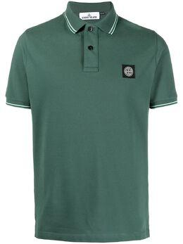 Stone Island рубашка поло с нашивкой-логотипом 101522S18