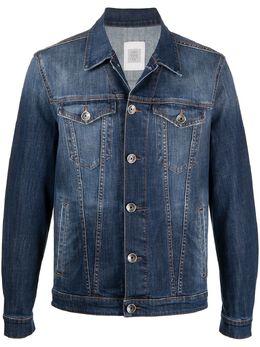 Eleventy джинсовая куртка с эффектом потертости C70GBTC10TET0C026