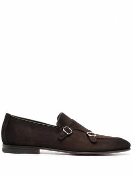 Santoni туфли монки с пряжками MCNC16848SA3SRVL