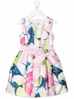 Colorichiari расклешенное платье с цветочным принтом FB1058224075