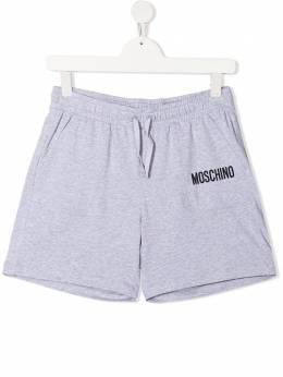 Moschino Kids спортивные шорты с логотипом HUQ00HLBA10