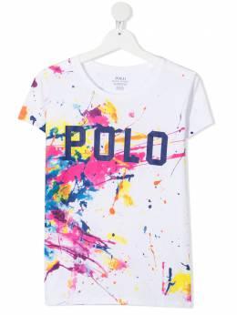 Ralph Lauren Kids TEEN painterly-print cotton T-Shirt 313833551001