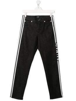 Balmain Kids брюки с логотипом 6O6620OA630