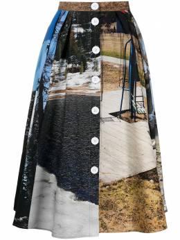 Plan C юбка А-силуэта с фотопринтом GOCAC02A00TC068FAN02