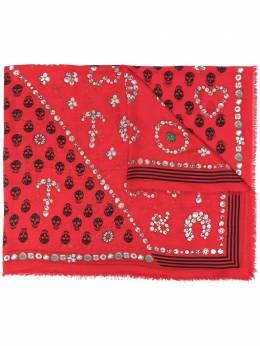 Alexander McQueen декорированный шарф с узором Skull 6464523418Q
