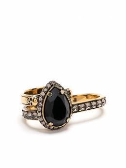 Alexander McQueen двойное кольцо с камнем 650469J160Z