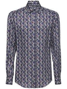 Рубашка Из Крепдешина С Принтом Dolce&Gabbana 73I021018-SEkyUkY1