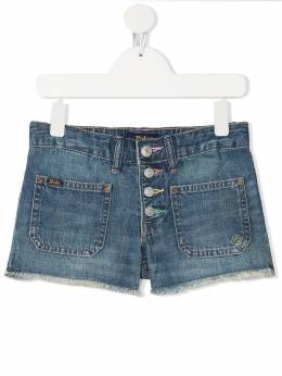 Ralph Lauren Kids frayed trim denim shorts 313832178