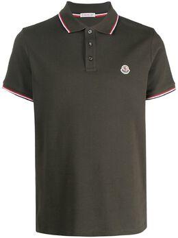 Moncler рубашка поло с логотипом на груди G10918A7030084556