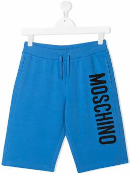 Moschino Kids шорты из джерси с логотипом HMQ007LDA27