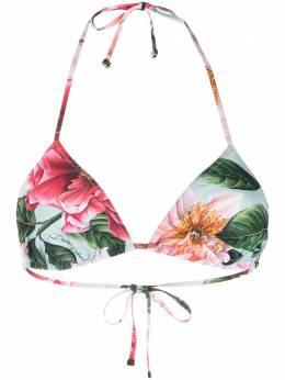 Dolce&Gabbana лиф бикини с цветочным принтом O1A00JFSGUZ