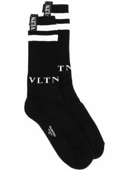 Valentino носки с вышитым логотипом VV3KI00W756
