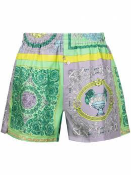 Versace пижамные шорты с принтом Baroque AUU050531F00508