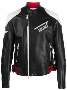 Alexander McQueen байкерская куртка в стиле колор-блок 626378Q5HTQ